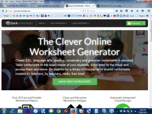 Quick Worksheets